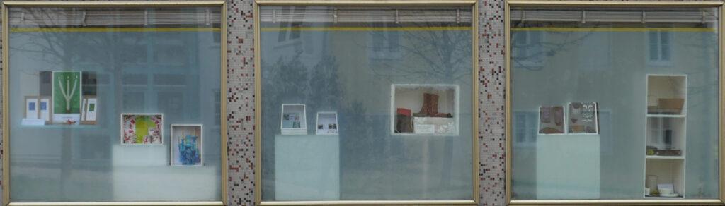 Glasbau e. V. Schaufenster-Ausstellung im Glasbaucafé,